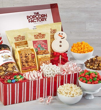 Peek-A-Boo Snowman Snacker's Choice Gift Box