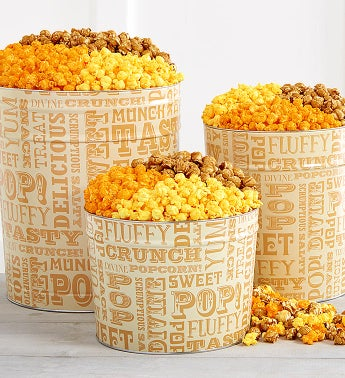 Popcorn Lovers Popcorn Tins - 3-1/2 Gallon 4-Flavor