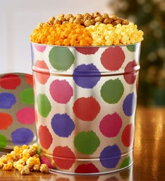 Celebration Dots Popcorn Tins