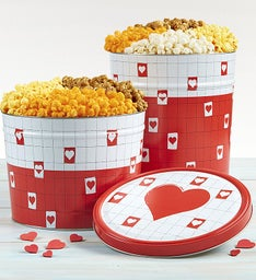 Be My Valentine Popcorn Tins