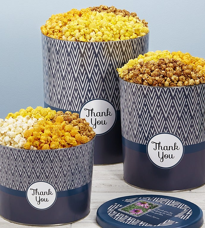 Simply Stated Thank You Popcorn Tins
