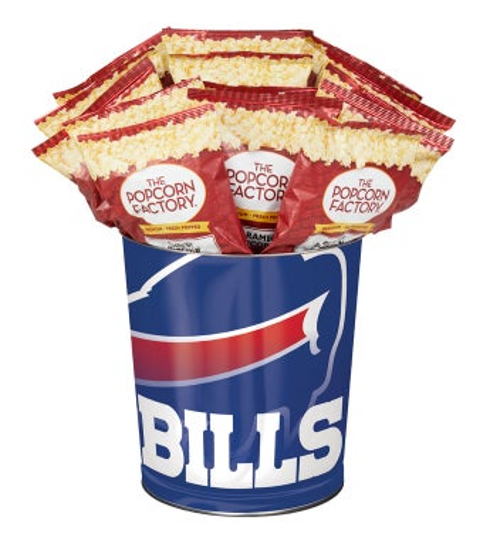 Buffalo Bills 3-Flavor Popcorn Tins - 3 Gallon