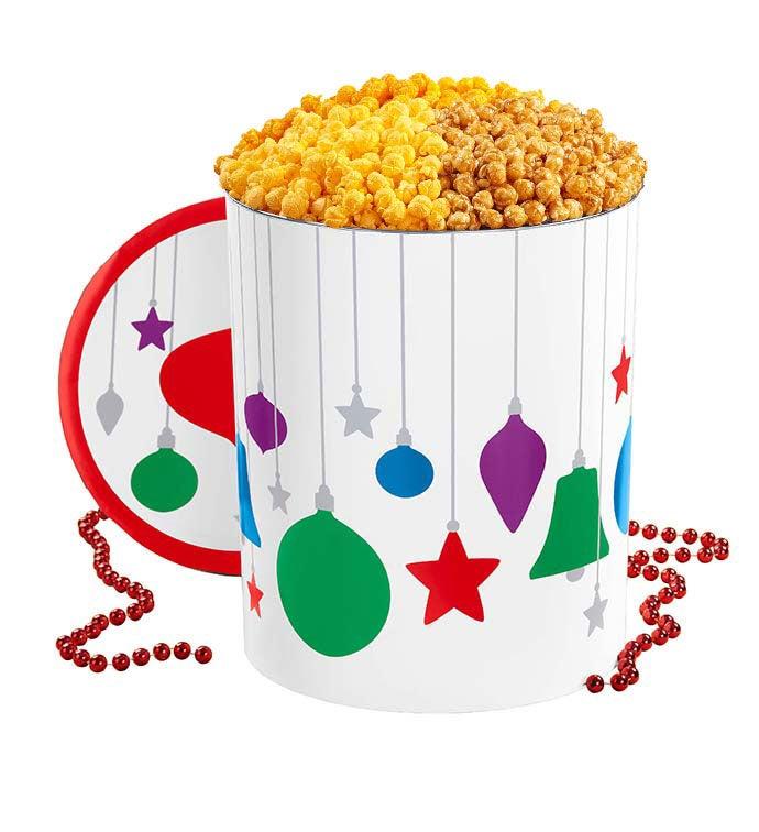 6 1/2 Gallon Jewel Ornament Popcorn Tin - Jewel Ornament 6 1/2 Gallon Popcorn Tin