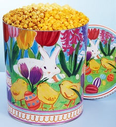 Easter in Bloom 6-1/2 Gallon Popcorn Tins