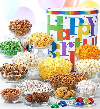 Big Birthday Ultimate Snack Assortment Deluxe by The Popcorn Factory