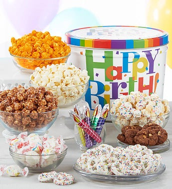 Big Birthday Grand Snack Assortment by The Popcorn Factory