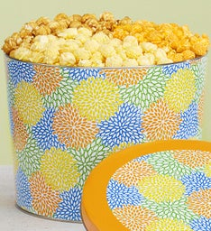 Summer Blossoms 2 Gallon Popcorn Tins