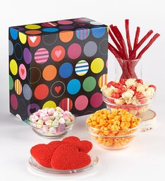 Simply Red 3-1/2 Gallon 4-Flavor Popcorn Tins