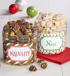 Naughty & Nice Canister Set
