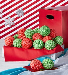 Simply Red Holiday Popcorn Balls