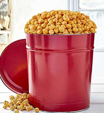 Simply Red 3-1/2 Gallon Pick-A-Flavor Popcorn Tins