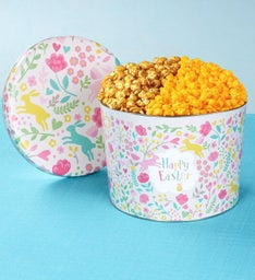 2 Gallon Happy Easter Pick A Flavor Popcorn Tins