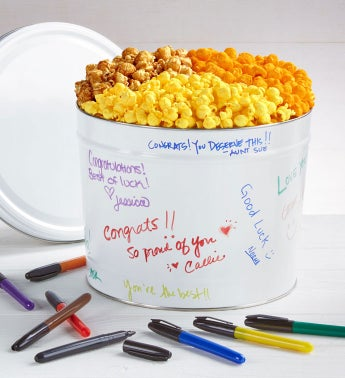 Decorate Your Own Popcorn Tins - 2-Gallon 3-Flavor (Dry Erase Markers)