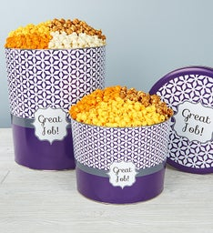 Simply Stated Great Job Popcorn Tins