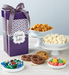 Simply Stated Great Job Tall Snack Box