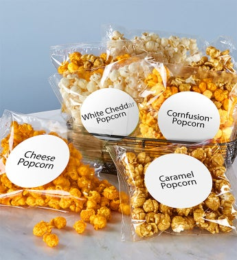 100 Count Clear Snack Bags - 100 Count Caramel Popcorn