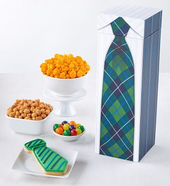 Plaid Tie Gift Box - Tall Box