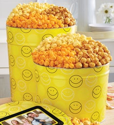 Smiley Dot Popcorn Tin