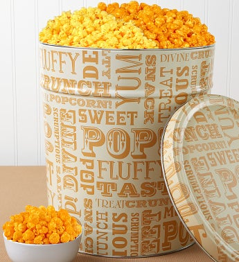 6-1/2 Gallon Popcorn Lovers Pick-A-Flavor - Butter & Caramel Popcorn
