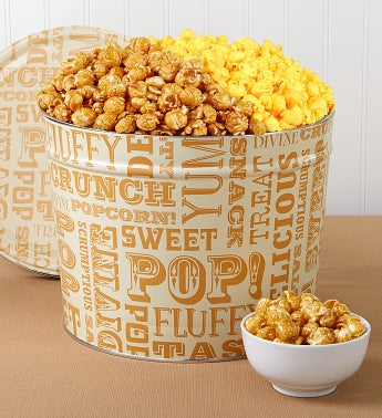 2 Gallon Popcorn Lovers Pick-A-Flavor - Butter & White Cheddar Popcorn
