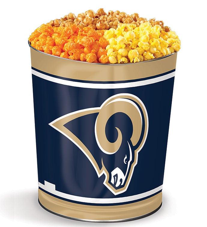 Los Angeles Rams 3-Flavor Popcorn Tins - 3 Gallon Los Angeles Rams 3-Flavor