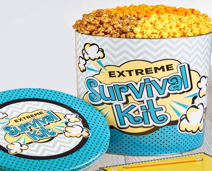 Extreme Survival Kit Popcorn Tin