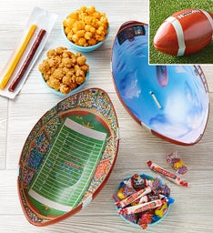 Football Shaped Snack Tin