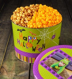 Happy Halloween Sugar Free Popcorn Tins
