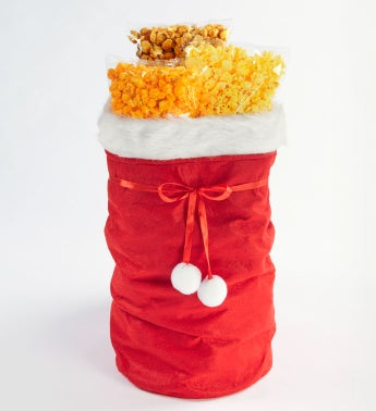 Santa Sack Filled With 2 Gallons Of Popcorn