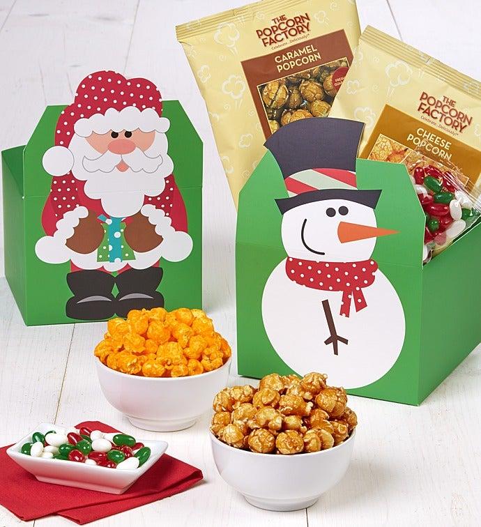 Santa & Snowman Top Gift Boxes
