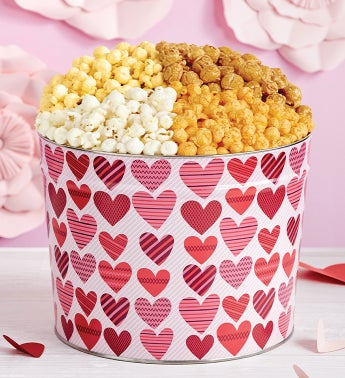 From The Heart Popcorn Tins - 3-1/2 Gallon 4-Flavor