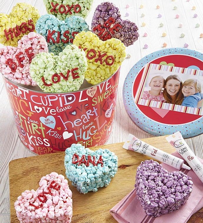 Popcorn Conversation Heart Decorating Kit - Popcorn Heart Decorating Kit