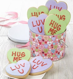 Love Out Loud Conversation Heart Cookie Pail