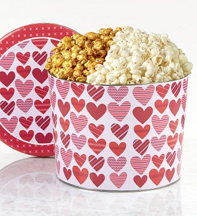 2 Gallon Sugar-Free Tins - Butter & Sugar-Free Caramel Popcorn