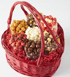 Deluxe Heart Great Foods Gift Basket