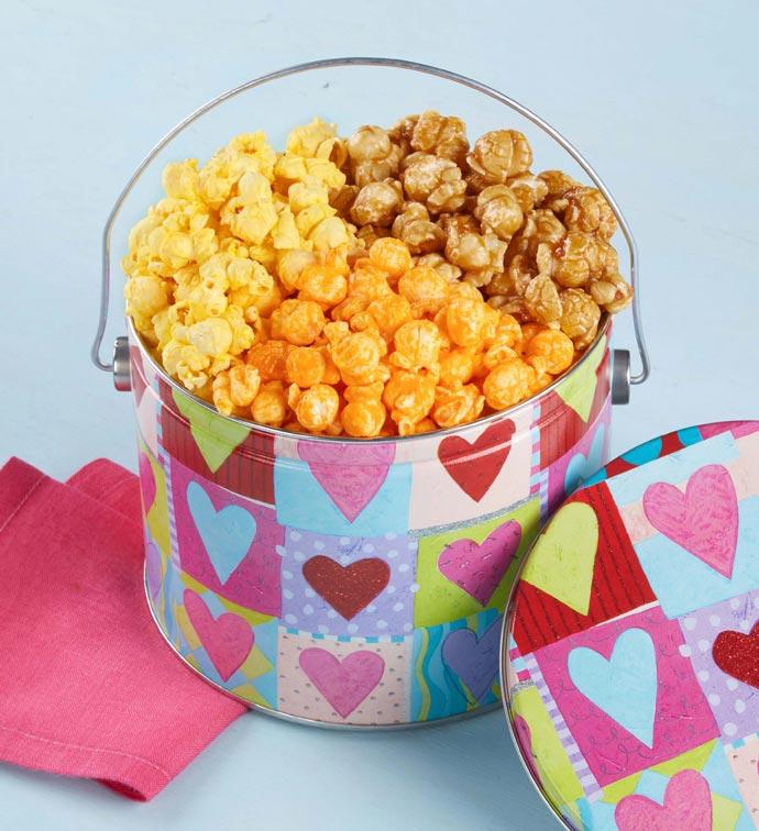 Heart Deco 3-Flavor Popcorn Pail