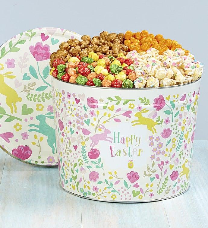Happy Easter Deluxe 4-Flavor Popcorn Tin