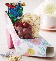 Floral Shoe-Shaped Gift Box