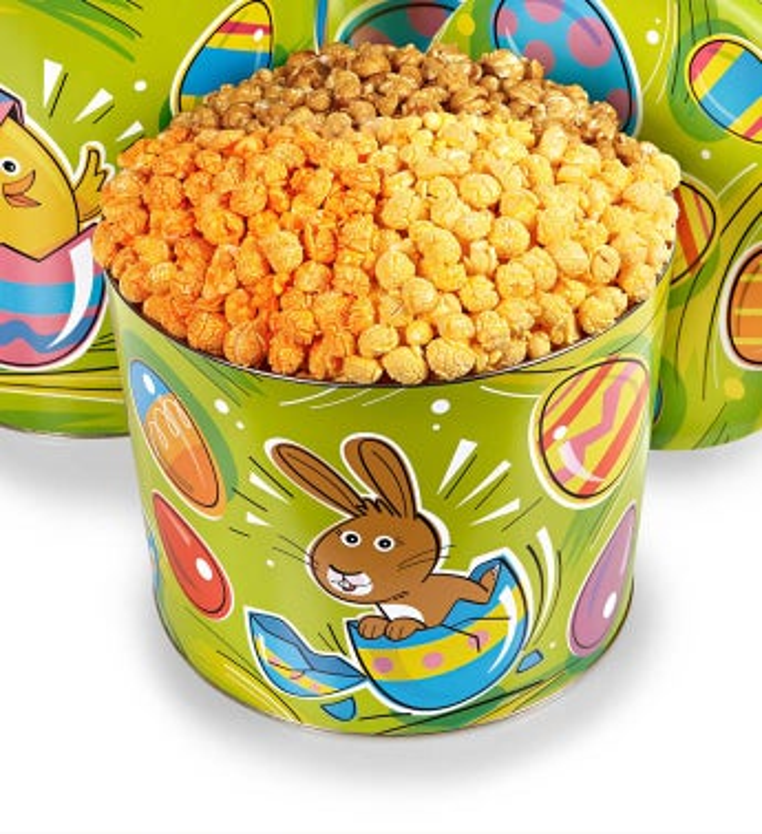 2 Gallon Eggceptional Easter 3-Flavor Popcorn Tin