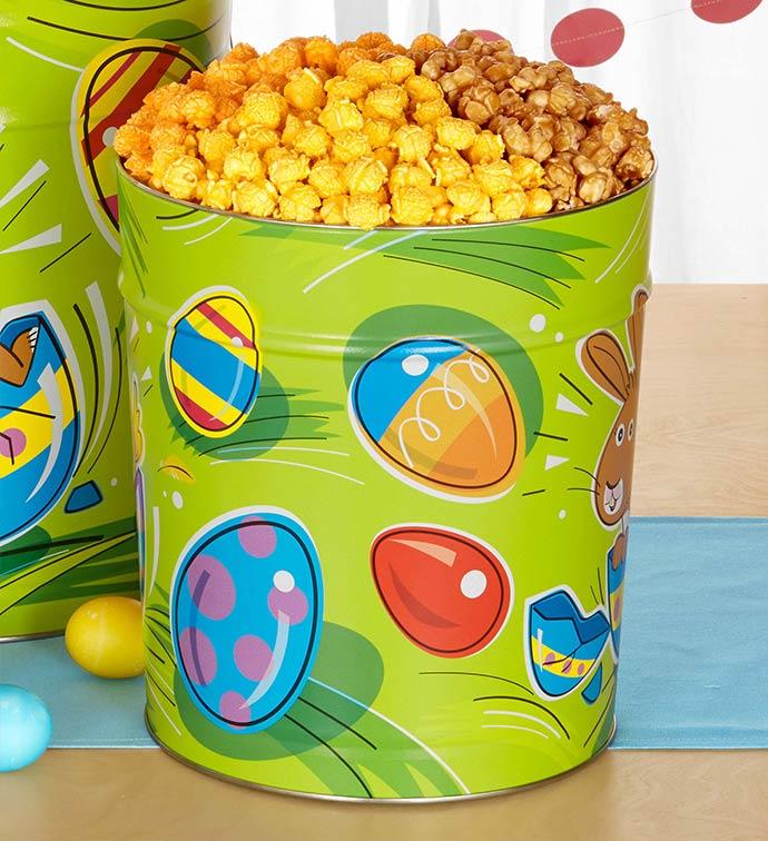 3 1/2 Gallon Eggceptional Easter 3-Flavor Popcorn Tin