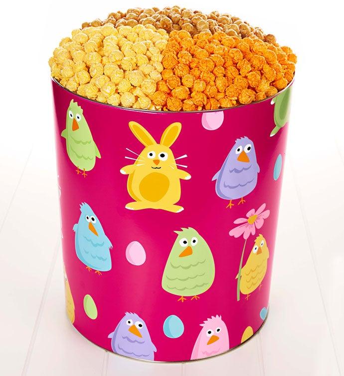 6 1/2 Gallon Easter Friends 3-Flavor Popcorn Tin