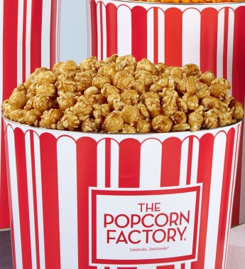TPF Retro 2 Gallon Sugar Free Caramel Popcorn Tins - Butter & Sugar-Free