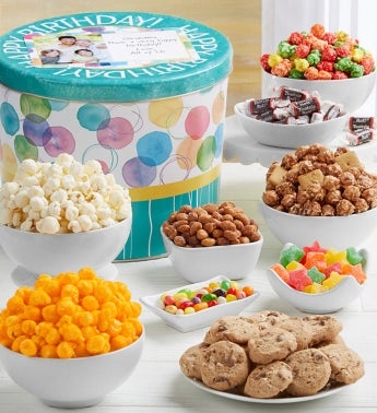 Say It With Dots Grand Snack Assortment Happy Birthday by The Popcorn Factory