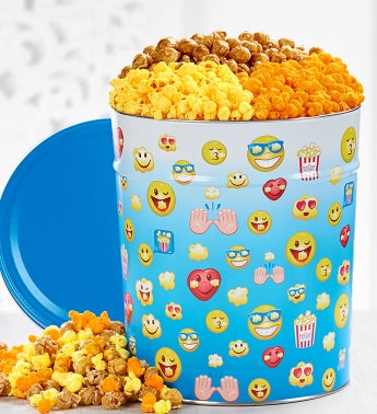 Laugh Out Loud Popcorn Tins - 3-1/2 Gallon 3-Flavor