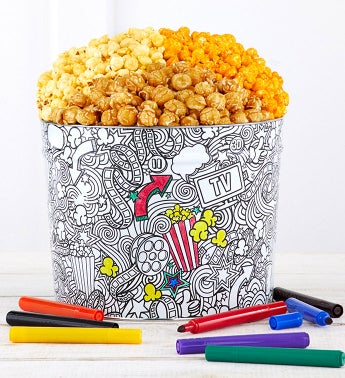 Creative Color 2 Gallon Popcorn Tin - Creative Color 2 Gallon 3-Flavor Tin