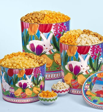 Easter In Bloom 3-Flavor Popcorn Tins - 3-1/2 Gallon 3-Flavor (56 Cups)