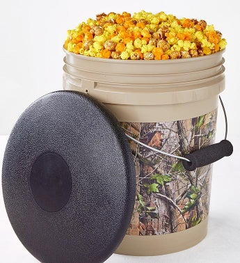 Realtree Apg Camo Popcorn Bucket With Seat Lid - 5-Gallon Popcorn Bucket