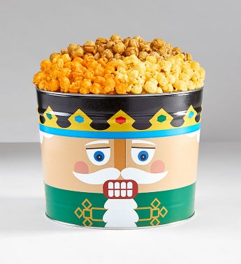 Nutcracker Popcorn Tins - 2 Gallon 3-Flavor Popcorn Tin