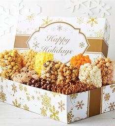 Gold Snowflake Ultimate Snack Gift Box