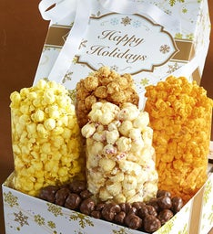 Gold Snowflake Petite Snack Gift Box